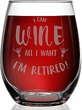 """Shop4Ever Weinglas mit Lasergravur """"I Can Wine"""