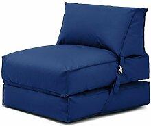 Shopisfy ausklappbare Einzeln vorgefüllt Sitzsack Gästebett Futon Matratze Zbed Liege, Gestaltet mit Verschluss Erhältlich in 11 Modernen Farben - Blau
