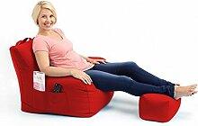 Shopisfy groß Gaming Sitzsack Lounge Gamer Sitzsack Sessel mit passender Schemel in hohem Qualität Wasserfest Material, Erhältlich in 10 Farben - Ro