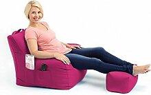 Shopisfy groß Gaming Sitzsack Lounge Gamer Sitzsack Sessel mit passender Schemel in hohem Qualität Wasserfest Material, Erhältlich in 10 Farben - Rosa
