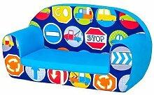 Shopisfy Kinder Zubehör Auswahl Kleinkind Kinderzimmer Kindergarten Möbel-sitzsack Aufkleber Kissen Zbed Sessel Sofa, eine Vielzahl von Produkte Erhältlich in 19 Designs - Straße Zeichen, Schaumstoff Sofa