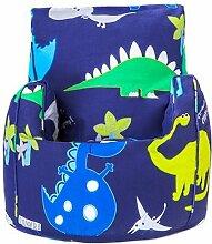 Shopisfy Kinder Zubehör Auswahl Kleinkind Kinderzimmer Kindergarten Möbel-sitzsack Aufkleber Kissen Zbed Sessel Sofa, eine Vielzahl von Produkte Erhältlich in 19 Designs - Dino in der Dunkelheit, Sitzstuhl