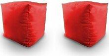 Shopisfy - Knautschsack Würfelförmig Wasserfest Sitzsack - Ro