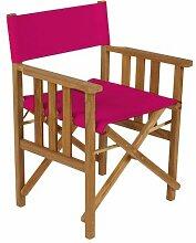 Shopisfy Wasserfest Innen Außen Direktor Sessel Ersatzabdeckung, Erhältlich in 16 Farben - Rosa