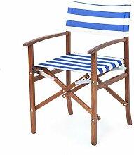 Shopisfy Wasserfest Innen Außen Direktor Sessel Ersatzabdeckung, Erhältlich in 16 Farben - Gestreift Blau