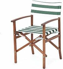 Shopisfy Wasserfest Innen Außen Direktor Sessel Ersatzabdeckung, Erhältlich in 16 Farben - Streifen Grün