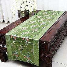 Shopping- Chinesisch Tischläufer Tischdecken Couchtisch Tuch Bett Flagge Tuch Kunst Abdeckung Tuch ( farbe : Grün )