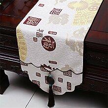 Shopping- Chinesische Art Jade-Hirten-Tabellen-Läufer-Tischdecken-Tee-Tabellen-Tuch-Bett-Fahnen-Tuch Art ( größe : 33*180cm )