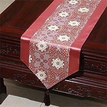 Shopping- Chinesische Seidenhirten-Tischläufer-Tischdecke-Bett-Fahnen-Tuch Art ( farbe : Pink , größe : 33*200cm )