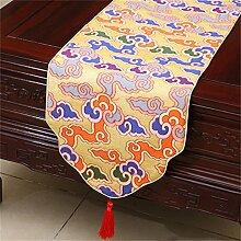 Shopping- Chinesischer Art-Retro- Brokat-einfacher moderner europäischer Tabellen-Läufer Neues klassisches Tischdecke-Tee-Tabellen-Tuch ( größe : 33*200cm )