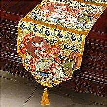 Shopping- Chinesischer Art-Retro- Brokat-einfacher moderner europäischer Tabellen-Läufer Neues klassisches Tischdecke-Tee-Tabellen-Tuch ( größe : 33*300cm )