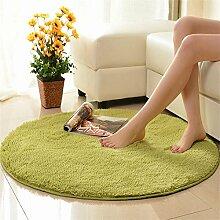 Shopping-Einfache, moderne Runde Teppiche Wohnzimmer Schlafzimmer Suede Tuchkunst Teppich