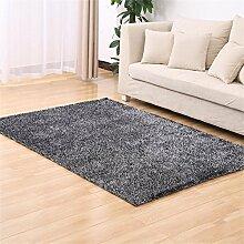Shopping-Einfache, moderne verdickte Korean Silk Teppich Wohnzimmer Schlafzimmer Bettvorleger