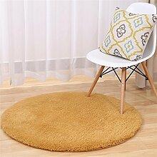 Shopping-Lammfell Runde Teppiche Yoga Teppich Schlafzimmer Wohnzimmer Bettvorleger
