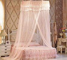 Shopping-Moderne minimalistische Mode kreative European Style Dome Mosquito Netto Verschlüsselung Verdickung Double Home Princess Style Edelstahl Halterung klassischen romantischen Schlafzimmer ( Farbe : Jade Farbe )