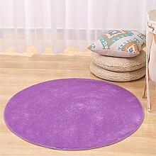 Shopping-Runde Teppiche Einfache moderne Schlafzimmer Bettvorleger Wohnzimmer Einfarbig verdickte