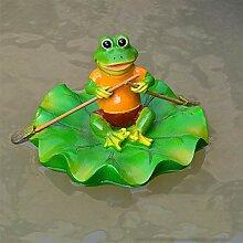 Shoppy Star Gartenskulptur, schwimmender Frosch,