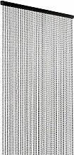 ShopWildThings Perlenvorhang Kugelkette Stahlfarbe
