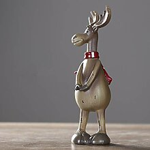shovv Dekoartikel Ornamente Moya Retro Elk Harz