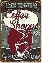 shovv Metallblechschild Heißer Kaffee Zeichen