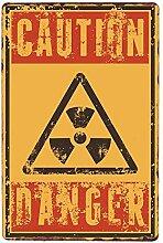 shovv Metallblechschild Warnbereich 51