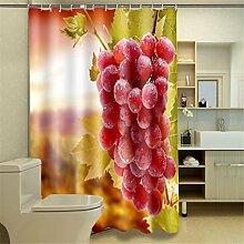 Shower Curtain Duschvorhang Fruit Foto Druck