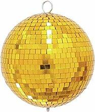 showking Discokugel Goldie mit Echtglasfacetten,