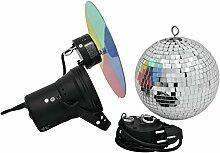 showking Discokugel-Set Night Fever mit Pinspot,