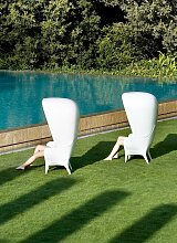Showtime Armlehnstuhl in Weiß für Außen von