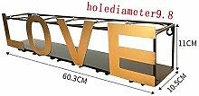 SHPEHP Wandmontage-Weinregal aus Metall/eisernes
