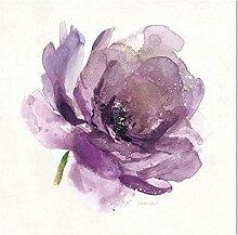 SHPXMBH Kunstdruck auf Leinwand Aquarell Blumen