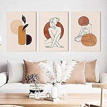SHPXMBH Moderne Bilder Sexy Line Woman Abstrakte