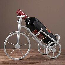 SHSH Weinregal aus Metall, Fahrrad-Stil, Mini-Bar,
