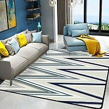 SHSHKO Luxus-Carpet Home Geometrisch gestreiften