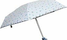 Shuang Yu Zuo Damen UV Super Sonnenschutz Regenschirm,Blue