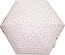 Shuang Yu Zuo Damen UV Super Sonnenschutz Regenschirm,Pink