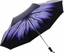 Shuang Yu Zuo Gänseblümchen Sonnenschutz- Taschenschirm,Purple