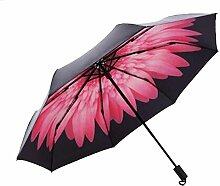 Shuang Yu Zuo Gänseblümchen Sonnenschutz- Taschenschirm,Rosered