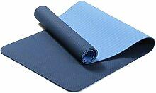 Shuang Yu Zuo Rutschfeste Rissbildung Umweltschutz Yoga-Matten,Blue