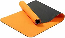 Shuang Yu Zuo Rutschfeste Rissbildung Umweltschutz Yoga-Matten,Orange