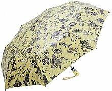 Shuang Yu Zuo Seide Super Sonnenschutz Sonnenschirm,Yellow