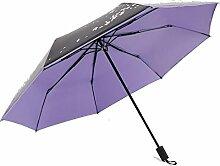 Shuang Yu Zuo Sonnenschutz Falten Falten Sonnenschirm,Purple