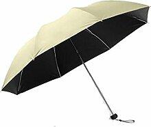 Shuang Yu Zuo Taschenschirm Sonnenschirm Sonnenschutz Schwarz Regenschirm Regenschirm Regenschirm,A