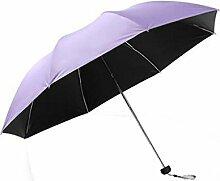 Shuang Yu Zuo Taschenschirm Sonnenschirm Sonnenschutz Schwarz Regenschirm Regenschirm Regenschirm,F
