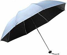 Shuang Yu Zuo Taschenschirm Sonnenschirm Sonnenschutz Schwarz Regenschirm Regenschirm Regenschirm,H