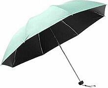 Shuang Yu Zuo Taschenschirm Sonnenschirm Sonnenschutz Schwarz Regenschirm Regenschirm Regenschirm,B