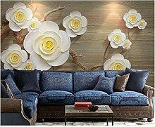 Shuangklei 8D Textur 3D Blume Tapete Wandbild