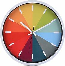 Shuangklei Leise Wanduhr Mute Runde Uhren Für