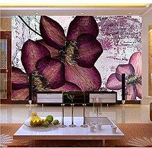 Shuangklei Lila Blume 3D Wandbild Vinyl Tapete