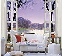 Shuangklei Lila Rahmen Fenster Landschaft 3D